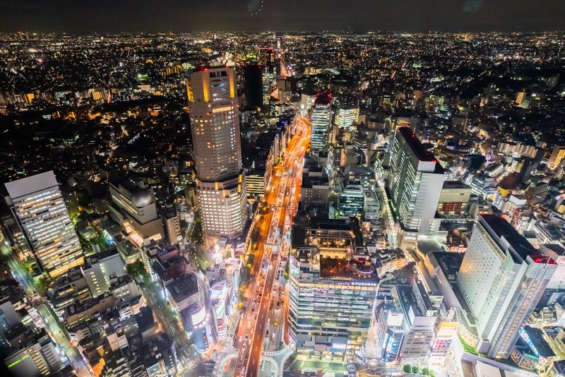 渋谷スカイより渋谷の街並みを望む